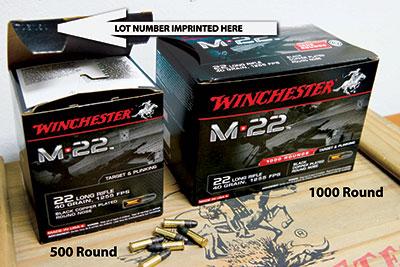 Winchester Recalls M*22 Ammunition