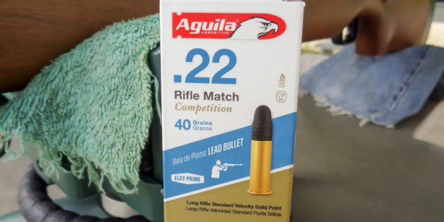 Aguila Rifle Match Competition 22LR – 100Yard Testing
